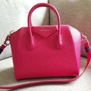 Authentic Givenchy Antigona Small in Fushia